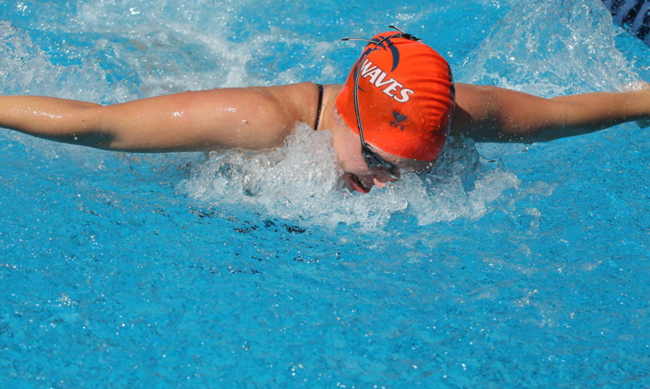 Julia Sneden won the 200 butterfly to help Pepperdine to a runner-up finish at the Lions Cup.