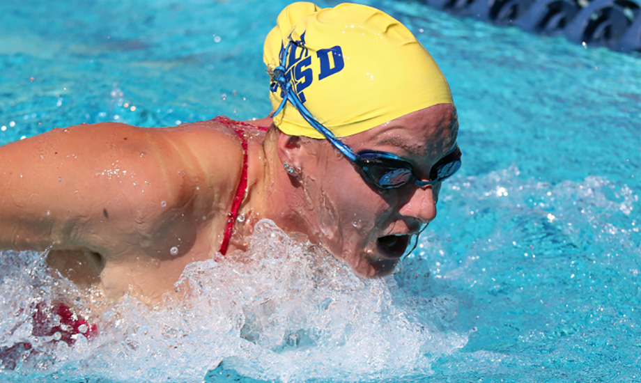 Amanda Sumrow claimed three top-three finishes in the meet, including a win in the 200 fly.